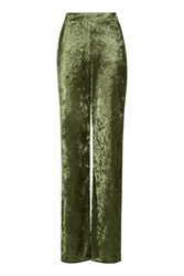 Love Velvet Wide Leg Trousers By Green