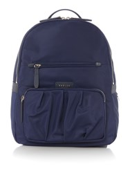 Radley Primrose Street Large Ziptop Backpack Navy