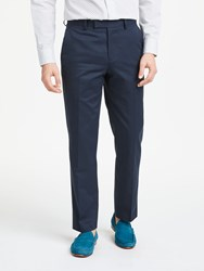 John Lewis Woven In Italy Cotton Cashmere Tailored Suit Trousers Navy