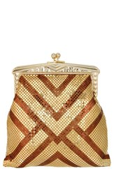 Whiting And Davis 'Heritage Poiret' Mesh Clutch Metallic Gold Bronze