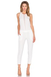 Kendall Kylie Tuxedo Jumpsuit White