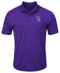 Profile Big And Tall Colorado Rockies First Hit Polo Purple