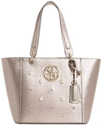 Guess Kamryn Tote Pewter Gold