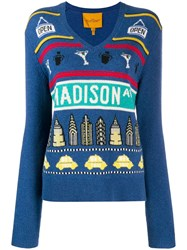 Marc Jacobs Madison Ave Pullover Blue
