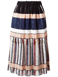 Forte Forte Striped Gathered Skirt