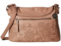 The Sak Esperato Flap Hobo Mocha Floral Hobo Handbags Brown