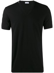 Dolce And Gabbana Embroidered White Crown T Shirt Black