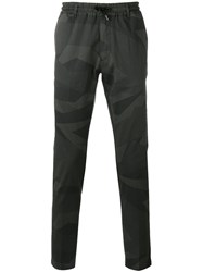 Hydrogen Camouflage Print Trousers Green