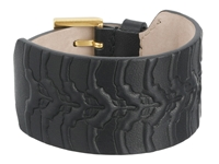 Alexander Mcqueen Rib Cage Leather Cuff Bracelet