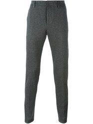 Dondup Pinstripe Trousers Grey