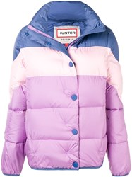 Hunter Colour Block Puffer Jacket Purple