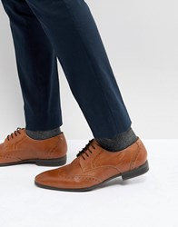 Pier One Leather Brogues In Tan