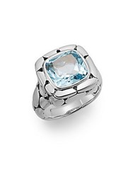 John Hardy Kali Blue Topaz And Sterling Silver Ring Silver Blue