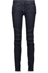 Balmain Low Rise Skinny Jeans Dark Denim