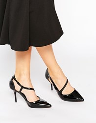 Ravel Strap Point Heeled Shoes Black