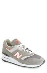 New Balance Men's '997 Ski Collection' Sneaker Grey Orange