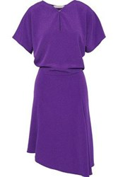 Vanessa Bruno Woman Asymmetric Metallic Crepe Dress Violet