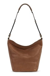Elliott Lucca 'Marin' Leather Hobo Bag Brown Almond Kashmere