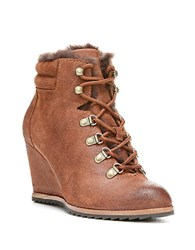 Dr. Scholls Izetta Suede And Faux Fur Lined Ankle Boots Brown
