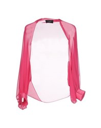 Clips Topwear Shrugs Women Fuchsia