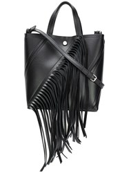 Proenza Schouler Small Fringed Hex Tote Black