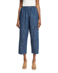 Eskandar Japanese Trousers Blue