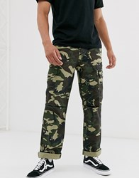 Dickies New York Cargo Trouser In Camo Green