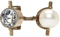 Lanvin Pearl And Crystal Azov Double Ring