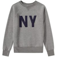 Ebbets Field Flannels New York Gothams Crew Sweat Grey