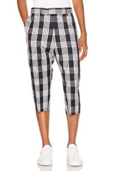 Oamc Tailored Plaid Pants In Blue Checkered And Plaid Blue Checkered And Plaid