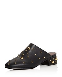 See By Chloe Studded Leather Mules Black