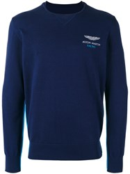 Hackett Logo Chest Embroidery Jumper Blue