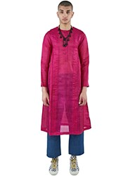 Swati Kalsi Silk Long Choga Pleated Tunic Pink