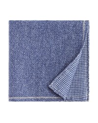 Bloomingdale's The Men's Store At Solid Bordered Wool Pocket Square 100 Exclusive Blue