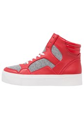 Dkny Bosley Hightop Trainers Summer Red Grey