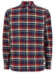 Penfield Barrhead Check Shirt Blue Red