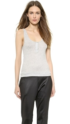 Alexander Wang Rib Henley Tank Light Heather Grey