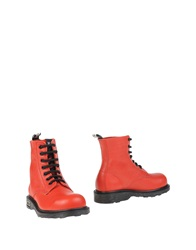 Cult Ankle Boots Red