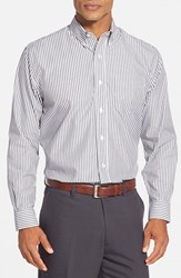 Men's Cutter And Buck Bengal Classic Fit Sport Shirt Charcoal Grey
