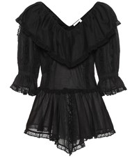 See By Chloe Cotton Blouse Black