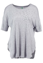 United Colors Of Benetton Print Tshirt Light Grey
