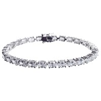 Ivory And Co. Oval Cubic Zirconia Tennis Bracelet Silver