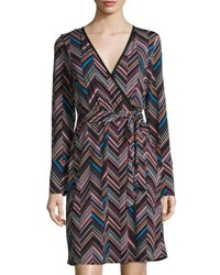 Laundry By Shelli Segal Graphic Print Faux Wrap Dress Multi Pattern