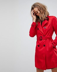 Stradivarius Classic Mac Trench Red