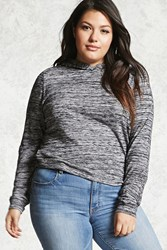 Forever 21 Plus Size Marled Hoodie Charcoal