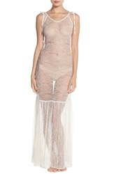 For Love Lemons 'Isabelle' Sheer Lace Nightgown Ivory