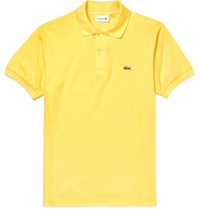 Lacoste Slim Fit Cotton Pique Polo Shirt Yellow