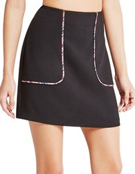 Bcbgeneration Contrast Piping Miniskirt Black