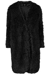Aviation Faux Fur Coat By Goldie Black