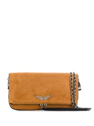 Zadig And Voltaire Patent Clutch Bag Neutrals